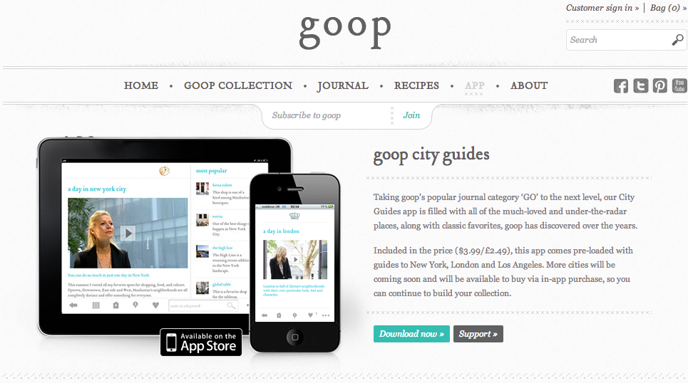 Goop Travel Guides