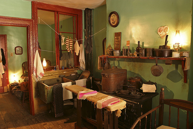The Levine's family kitchen Tenement Museum