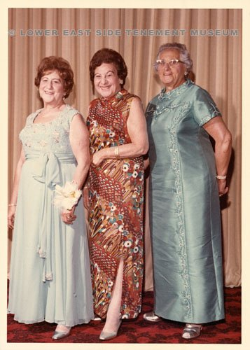 The Levine girls seen here at a party in the 1970s