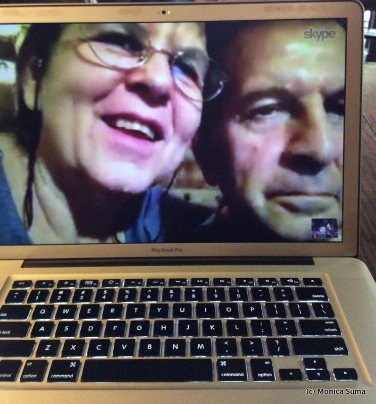 Mom and dad on Skype